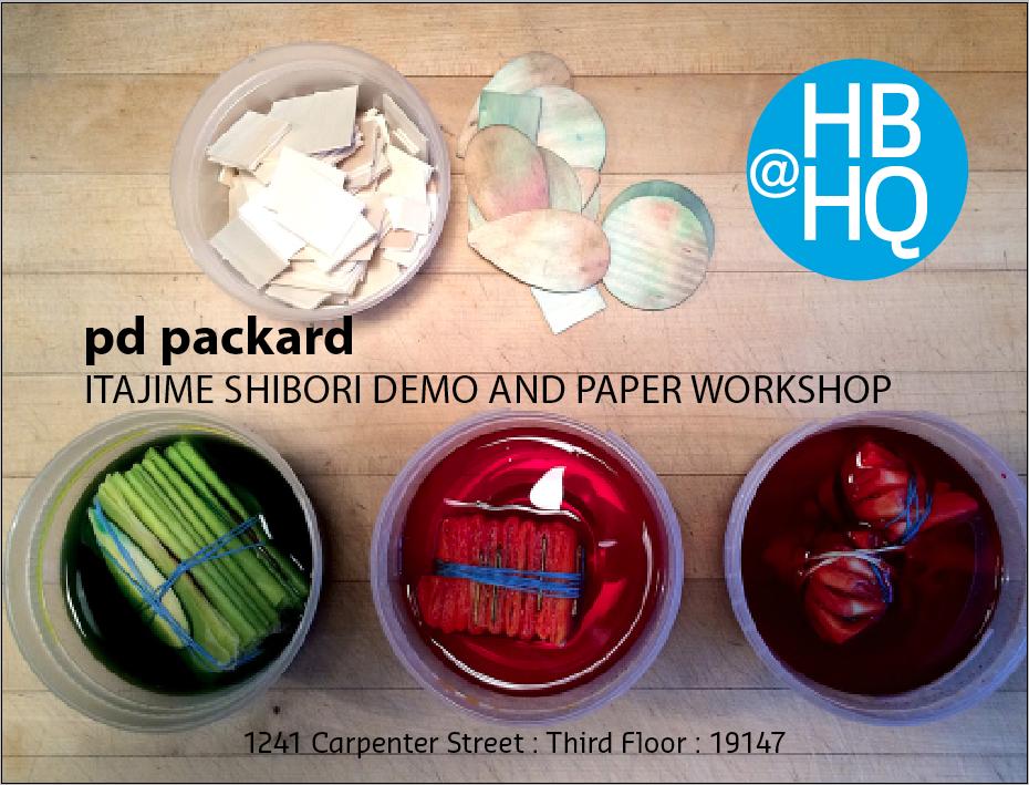 Itajime Shibori: Decorative Papermaking workshop with PD