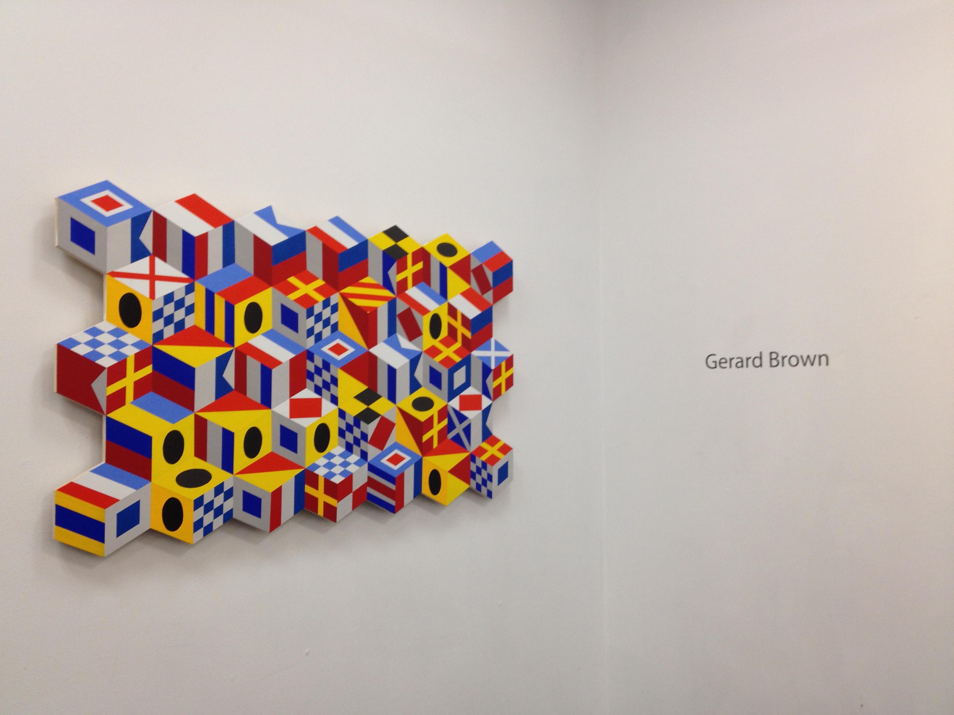 Gerard Brown at Abington Art Center exhibition entrance
