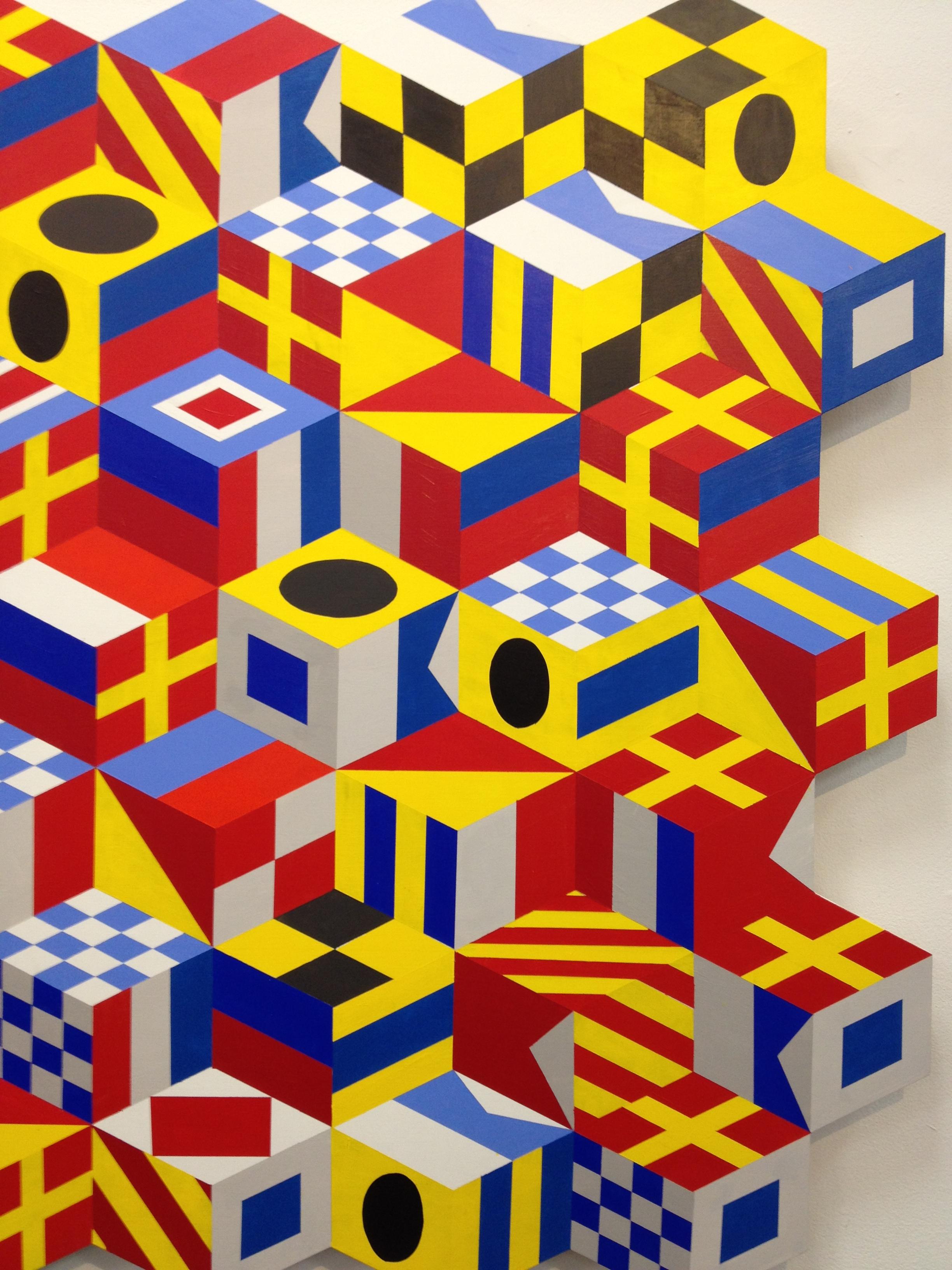 Gerard Brown at Abington Art Center exhibition