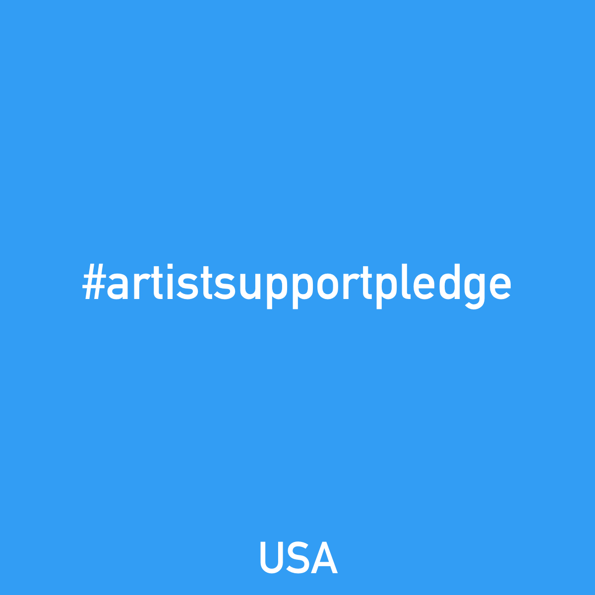 Take the Artist Support Pledge