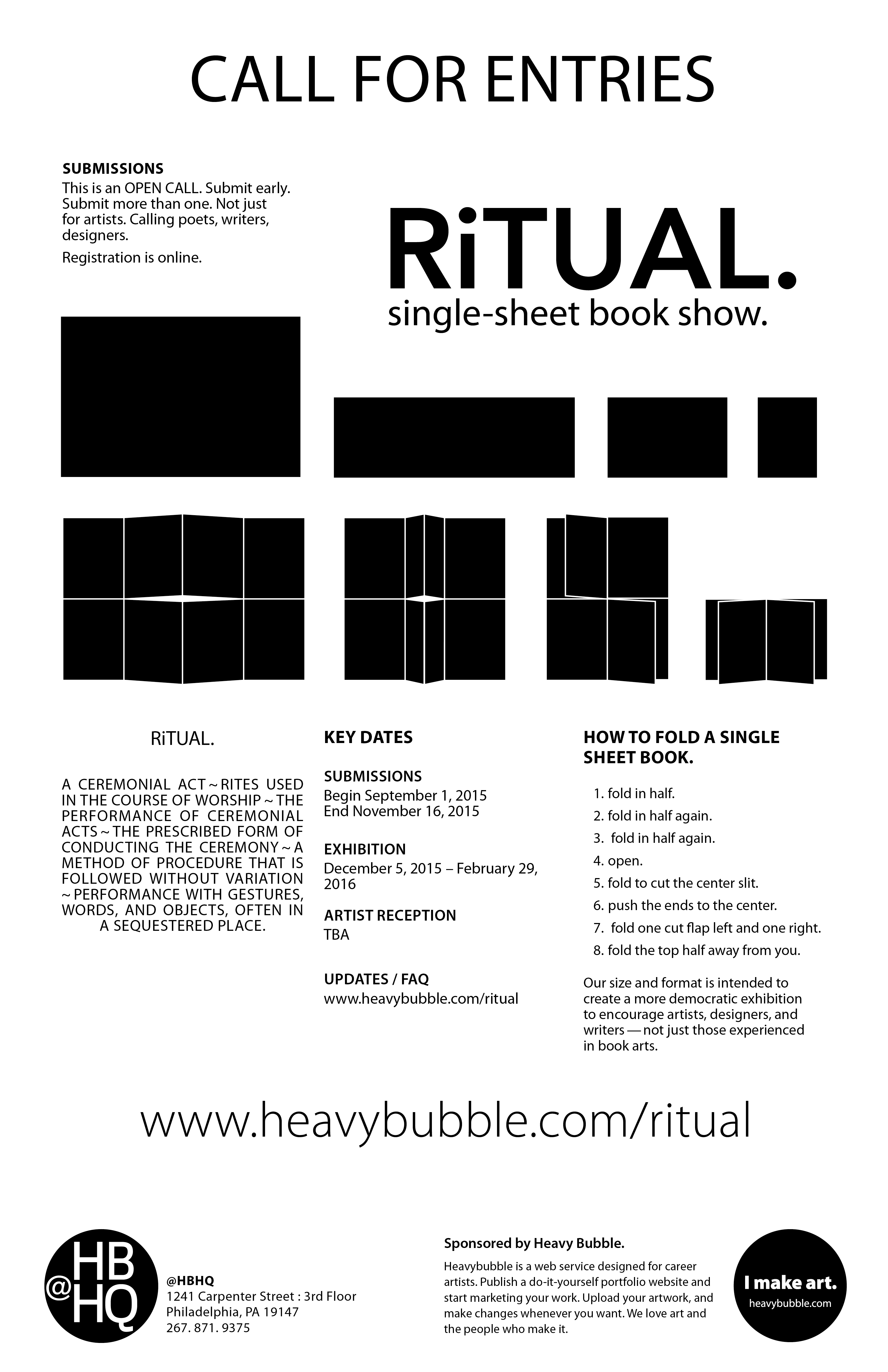 poster for RiTUAL. Book Show