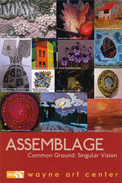 Invitation for Common Ground: Singular Visions, Assemblage show at Wayne Art Center