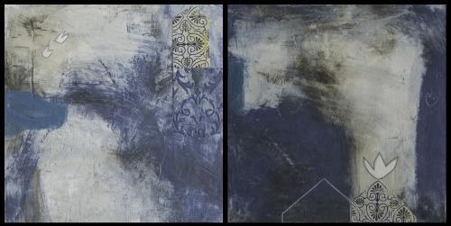 Donna Quinn Paintings (The Roofer's Lament, Empty Nest)