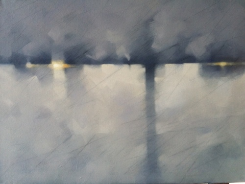 Painting, Fault line by Karen Fogarty