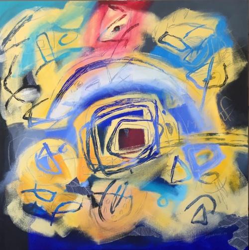 Yellow Sky I, Acrylic on canvas, Jacqueline Unanue, 2017