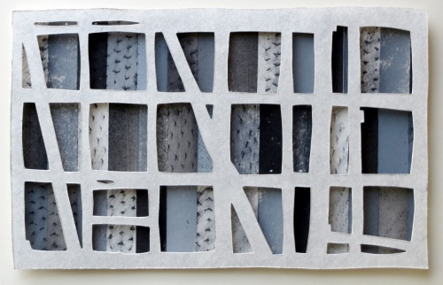 Black Window #2, constructed collage by Bill Brookover