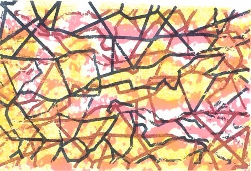Grand Dissidence, screenprint by Bill Brookover