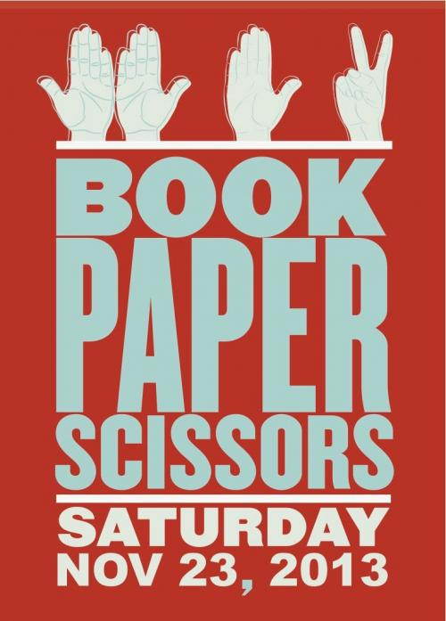 Postcard for Book Paper Scissors