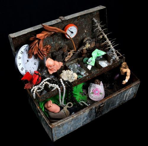 Pandora's Box, assemblage by Susan Richards