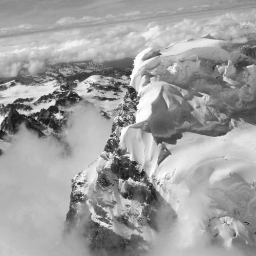 Alaska Range Mountain Peaks by Darcie Goldberg