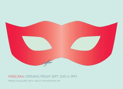 exhibition mask postcard