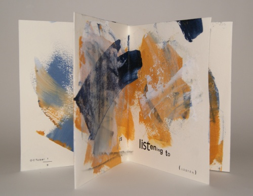 Notion no. 57: heard, a ritual meditation book of type and painting