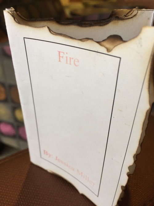 Fire by Jessica Miller for Ritual single-sheet book show