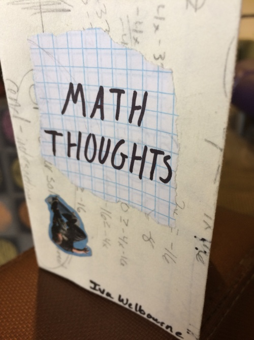 Math Thoughts by Iva Welbourne for Ritual single-sheet book show