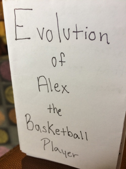 Evolution of Alex the Basketball Player by Alex Wiese for Ritual single-sheet book show