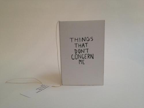 Things That Don't Concern Me by Amine  Ciuba