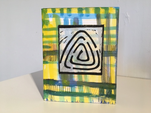 Maze on Plaid by Lesley Mitchell