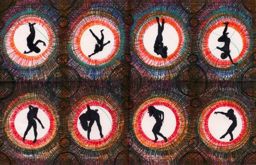 Ritual Ballet Repetition Pattern by Scott Barnes