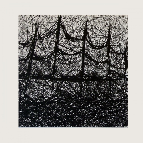 Danielle Bursk Abstract drawing in black and white