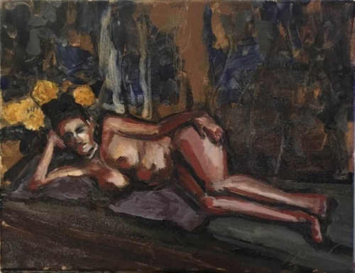 DoN Brewer, Tiberino Odalisque, oil on canvas