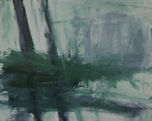 Forest, Acrylic painting by M. Pia De Girolamo