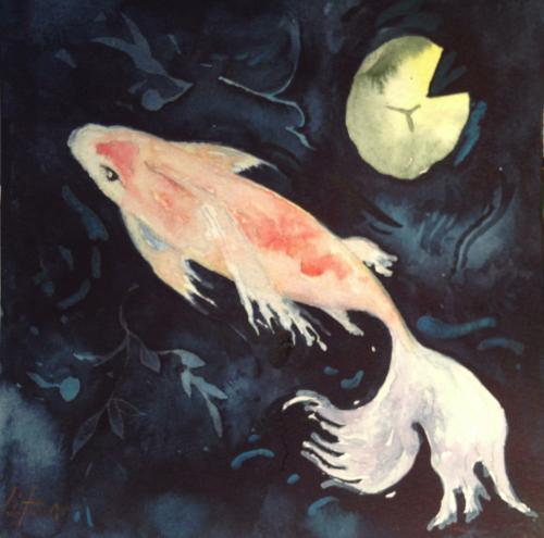 Lovely Goldfish I by Lauren Litwa Holden