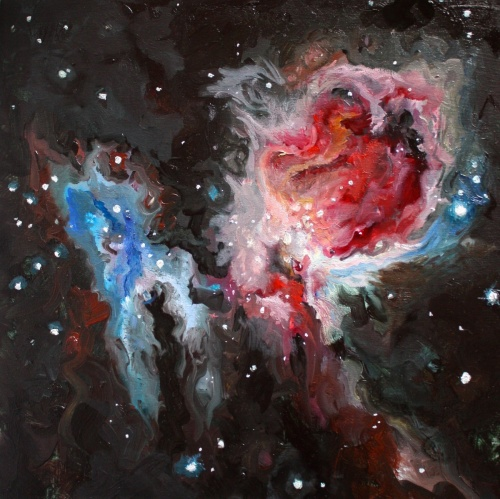 Astronomy painting by Ana Vizcarra Rankin