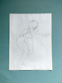 drawing, graphite, female, nude, figure