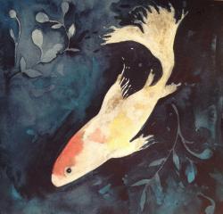 Lovely Goldfish II by Lauren Litwa Holden