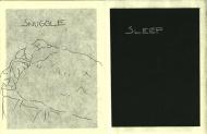 line drawing, sleep