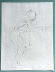 drawing, graphite, female, nude, figure