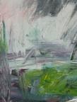 Mountain Clearing, acrylic painting by M. Pia De Girolamo