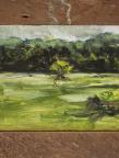 Solitude, painting, landscape, tree