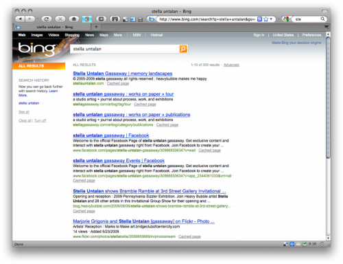 bing search results capture