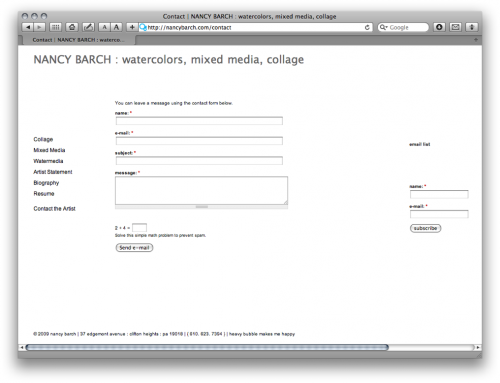 heavybubble contact form - barch