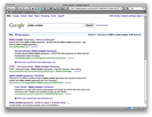 google search results capture