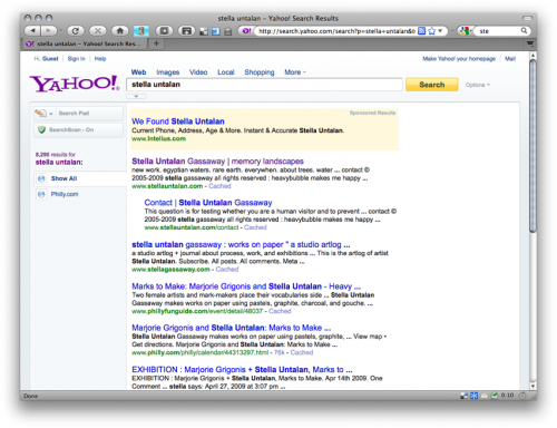 yahoo search engine results capture